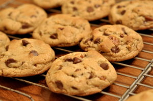 A chocolate chip cookie will break into pieces under pressure, just like our believing in God can, unless we strengthen ourselves with God's word.